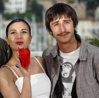 Hatice Aslan and Ahmet Rifat Sungar at the photocall of