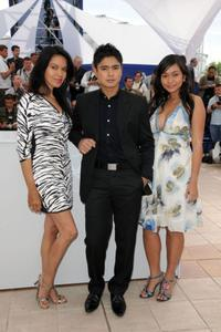 Maria Isabel Lopez, Coco Martin and Mercedes Cabral at the 62nd International Cannes Film Festival.