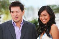 Director Brillante Mendoza and Mercedes Cabral at the 62nd International Cannes Film Festival.