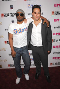 Noel Clarke and Richard Raymond at the world premiere of