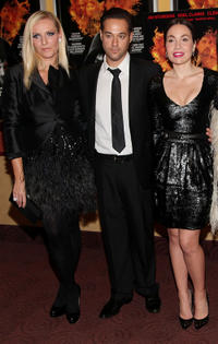 Fashion designer Keren Craig, Richard Raymond and socialite Fabiola Beracasa at the New York premiere of
