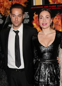 Richard Raymond and socialite Fabiola Beracasa at the New York premiere of