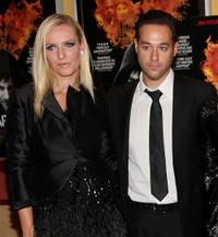 Fashion designer Keren Craig and Richard Raymond at the New York premiere of