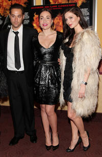 Richard Raymond, socialite Fabiola Beracasa and fashion designer Georgina Chapman at the New York premiere of
