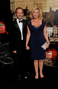 Amanda Redman and Guest at the Specsavers Crime Thriller Awards 2010.