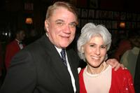 Rex Reed and Terry Gruber at the after party of