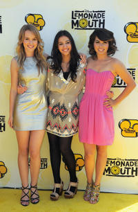 Bridgit Mendler, Naomi Scott and Hayley Kiyoko at the California premiere of