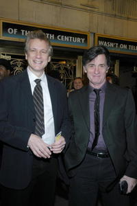 Rick Elice and Roger Rees at the opening night of