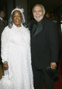Della Reese and Franklin Lett at the fund raiser for the Ray Charles Performing Arts Center.