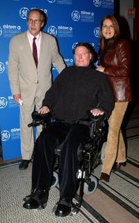 Christopher Reeve, Dana and Chevy Chase at the screening of