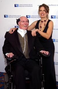 Christopher Reeve and wife Dana at the Christopher Reeve Paralysis Foundation 13th Annual