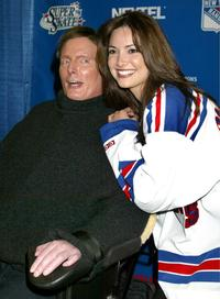 Christopher Reeve and Denise Quinones at the 4th Annual SuperSkate 2002 Charity Hockey Event.