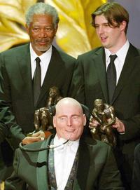 Christopher Reeves, Morgan Freeman and Matthew at the World Awards ceremony.