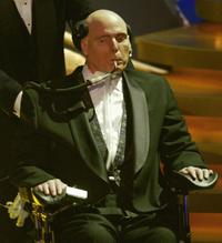 Christopher Reeve at the World Awards ceremony.