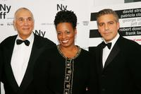Frank Langella, Dianne Reeves and George Clooney at the premiere of