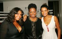 Evin Cosby, Dianne Reeves and Erinn Cosby at the premiere of