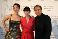 Oona Chaplin, Geraldine Chaplin and Patricio Castilla at the German Opera Ball 2009.