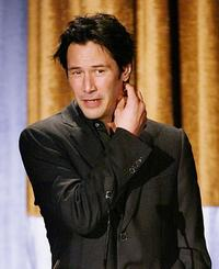 Keanu Reeves at the Hollywood Awards Gala.