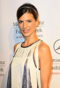 Perrey Reeves at the Mercedes Benz Fashion Week.