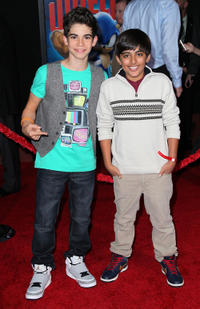 Cameron Boyce and Karan Brar at the California premiere of
