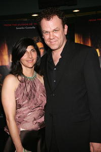 John C. Reilly and wife Alison Dickey at the premiere of