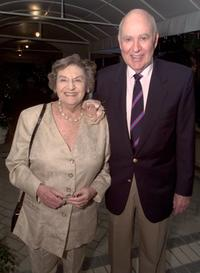 Estelle Reiner and Carl Reiner at the Ronald Neame 90th Birthday.