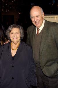 Estelle Reiner and her husband Director Carl Reiner at the premiere of