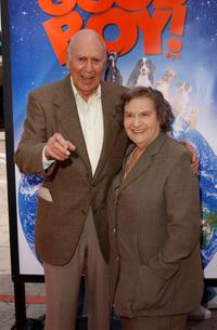 Carl Reiner and his wife Estelle Reiner at the UA premiere of