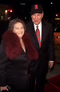 Estelle Reiner and Carl Reiner at the premiere of