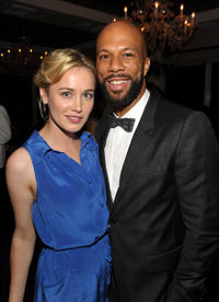 Dominique McElligott and Common at the 63rd Annual EMMY Awards in California.
