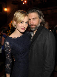 Dominique McElligott and Anson Mount at the after party of the California premiere of