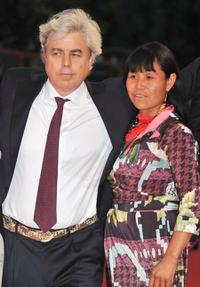 Marco Bechis and Alicelia Batista Cabreira at the premiere of