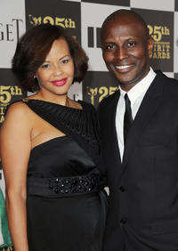 Souleymane Sy Savane and Guest at the 25th Film Independent Spirit Awards in California.
