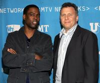 Paul Reiser and Chris Rock at the backstage of MTV Networks Upfront.