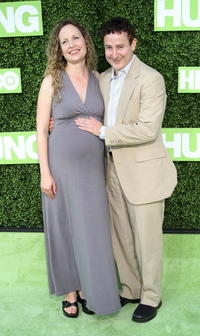 Eddie Jemison and his wife at the HBO premiere of