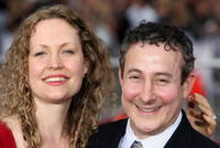 Eddie Jemison and his wife at the US premiere of