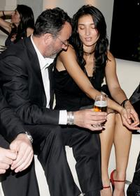 Jean Reno and wife Zofia Borucka at the IWC Da Vinci Launch party.