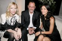 Jean Reno, wife Zofia Borucka and Cate Blanchett at the IWC Da Vinci Launch party.