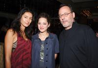 Jean Reno, Zofia Reno and Marion Cotillard at the reception hosted by Picturehouse for