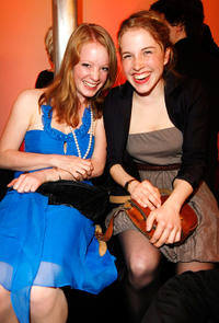 Leonie Benesch and Paula Kalenberg at the New Faces Award 2010 in Berlin.