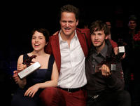 Paula Kalenberg, director Florian Henckel von Donnersmark and Franz Dinda at the New Faces Award 2011 in Berlin.