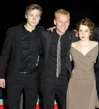 David Kross, Robert Stadlober and Paula Kalenberg at the Berlin premiere of