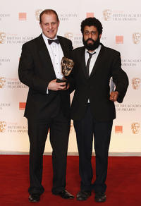 Nigel Lindsay and Adeel Akhtar at the Orange British Academy Film Awards in London.