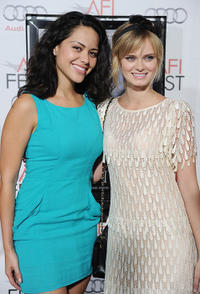 Alyssa Diaz and Sara Paxton at the red carpet of the premiere of