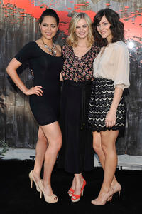 Alyssa Diaz, Sara Paxton and Katharine McPhee at the Press Preview Night of