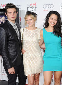 Nico Tortorella, Sara Paxton and Alyssa Diaz at the red carpet of the premiere of