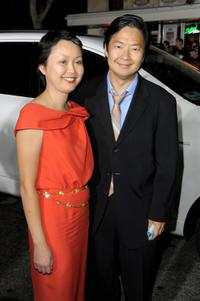 Tran Jeong and Ken Jeong at the premiere of