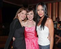 Anna Chlumsky, Kathy Searle and Jessalyn Wanlim at the after party of