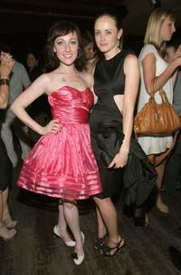 Kathy Searle and Alexis Bledel at the after party of