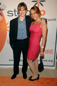 Connor Paolo and Alice Kremelberg at the Step Up Women's Network's 10th Anniversary Inspiration Awards.